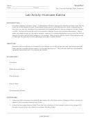 Hurricane Katrina Geography Worksheets