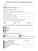 Transition Meeting Information Sheet - Jcsd