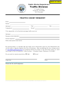 Traffic Count Request Form