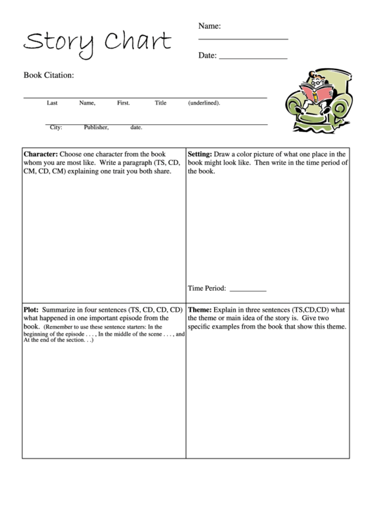 Story Review Chart Template Printable pdf