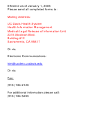 Medical Information Release