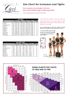 Cicci Australia Size Chart For Costumes And Tights