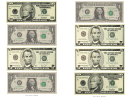 One, Five And Ten Dollar Bill Templates