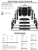 Whiting Seating Chart - The Whiting