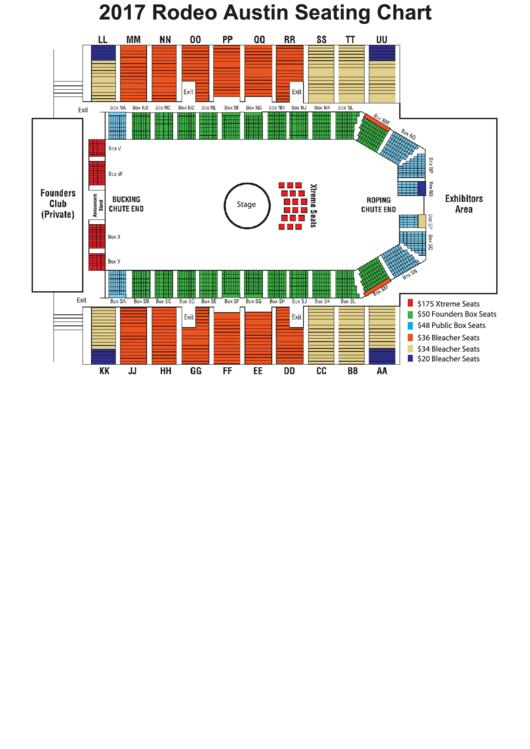 Arena Seating Map - Rodeo Austin