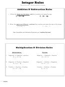 Integer Rules - Pleasanton Moodle