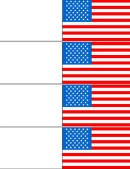 Colored Pattern American Flag Template