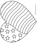 American Flag Heart Coloring Sheet