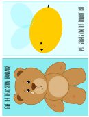 Bear And Bee Template For Kids