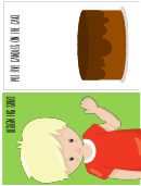 Boy And Cake Template For Kids