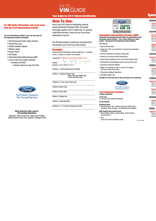 5 How To Use: - Ford Fleet Printable pdf