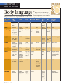 Equus' Body Language Chart