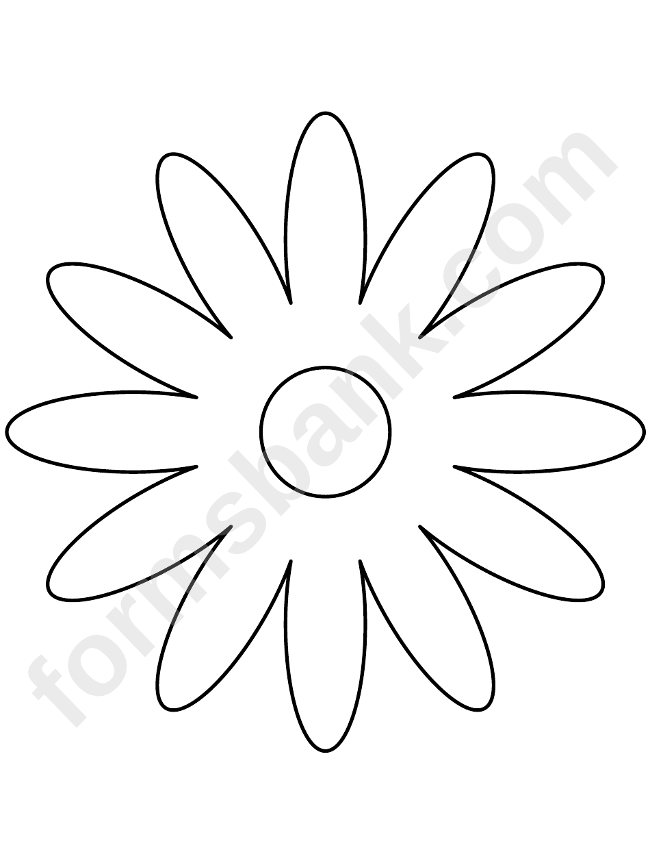 Daisy Petal Template Printable Pdf Download