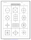 Shade The Parts Of Shapes Worksheet With Answer Key