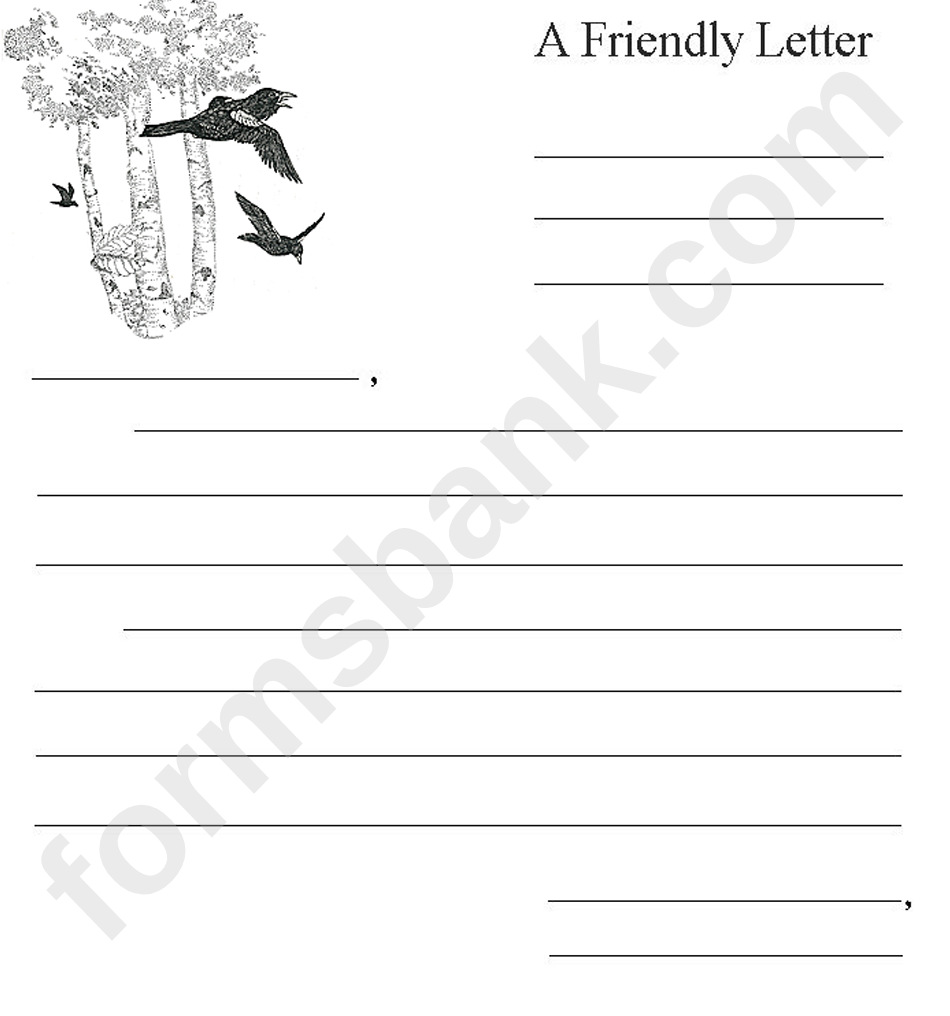 A Friendly Letter Template