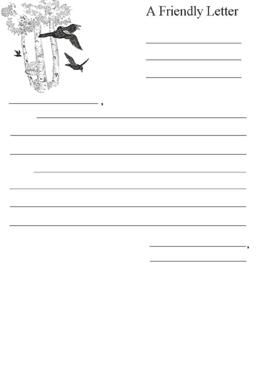 A Friendly Letter Template Printable pdf