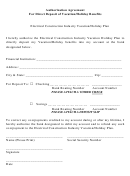 Authorization Agreement Template For Direct Deposit Of Vacation/holiday Benefits