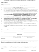Affidavit Of Exempt Status Under Worker Compensation - Uco