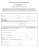 Minor Patient Treatment Consent Form