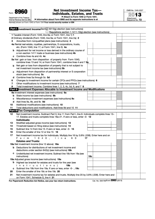 4 Tax Form 8960 Templates free to download in PDF, Word and Excel