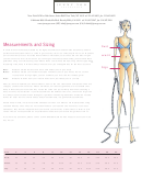 Measurement And Sizing Chart Printable pdf