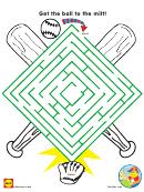 Baseball Square Maze Game Template