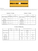 Build A Calf Worksheet