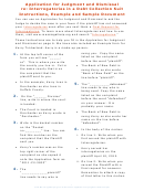 Example Application For Final Judgment And Dismissal