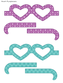 Heart Eyeglasses Template