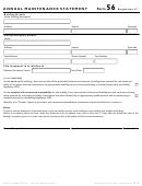 Form 56 Regulation 47 - Annual Maintenance Statement