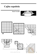 Simple Box Origami Template