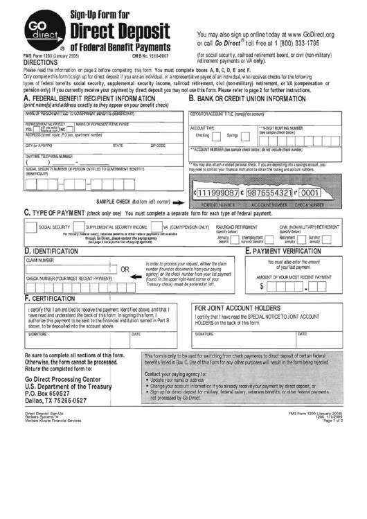 Direct Deposit Sign-Up Form Printable pdf