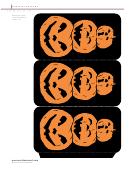 Foldable Pumpkin Lanterns Template
