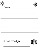 Snowflake And Snowman Winter Letter Template