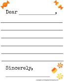 Fall Candy-themed Letter Template