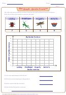 Bar Graph - Garden Creatures Worksheet Template