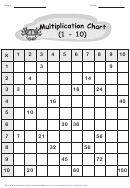 Multiplication Chart 1-10 - B/w Crab