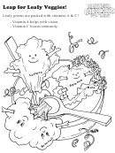 Leap For Leafy Veggies! Activity Sheet