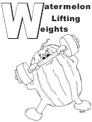 Weights Letter W Template