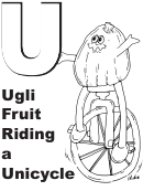 Ugli Fruit Riding A Unicycle