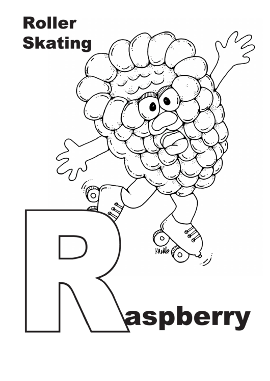 Raspberry Letter R Template