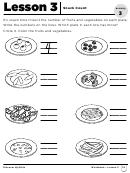 Snack Count Worksheet