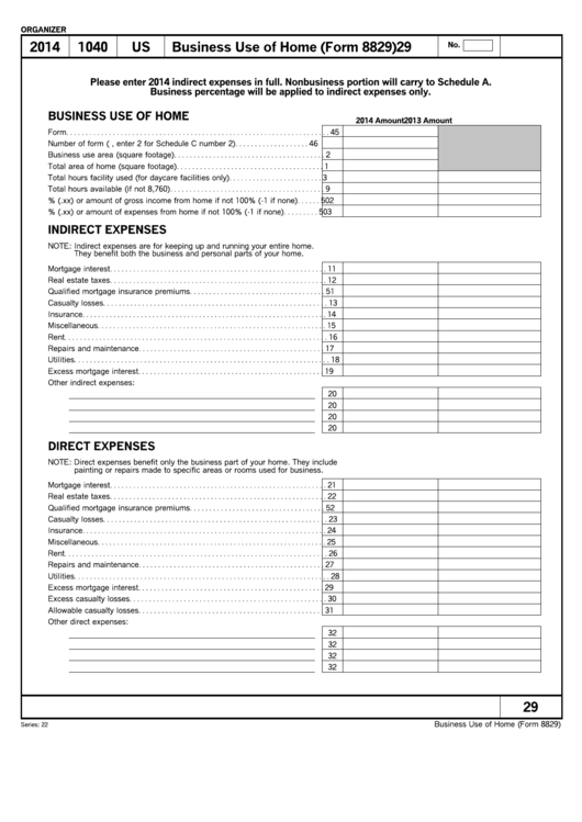 18 Form 8829 Templates free to download in PDF, Word and Excel