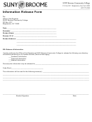 Information Release Form - Broome Community College