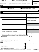 Form 5500-ez - Annual Return Of One-participant (owners And Their Spouses) Retirement Plan - 2012