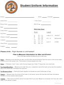 Student Uniform Information