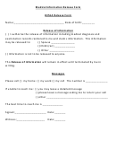 Hipaa Medical Release Form - Eye Center South