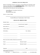 Address Change Requests - Central Missouri Community Credit Union