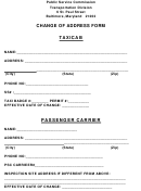 Change Of Address Form - Maryland Public Service Commission