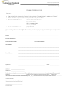 Change Of Address Form - Lebanon Federal Credit Union